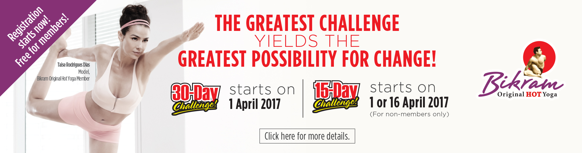 Bikram Challenge (Apr 2017)